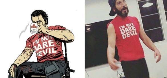 Jon Bernthal hizo referencia al comic usando la misma playera que The Punisher