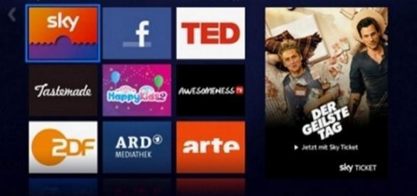 Mehr Mediatheken für Ticket-Kunden von Sky