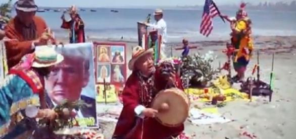 Cerimônia de expulsão de espíritos malignos de Trump