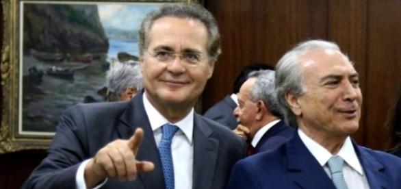 Renan Calheiros e Michel Temer juntos mais uma vez