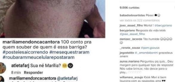 Cantora Marília Mendonça é alvo de comentário maldoso (foto: reprod./Instagram)