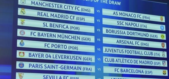 Confrontos das oitavas de final da Liga dos Campeões