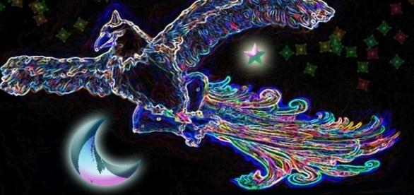 Die mythische Gestalt des Phönix Vogels (Symbolbild)