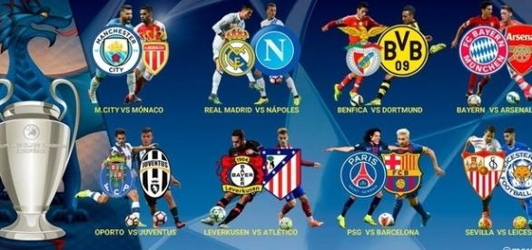 Emparejamientos Champios League 2016-2017