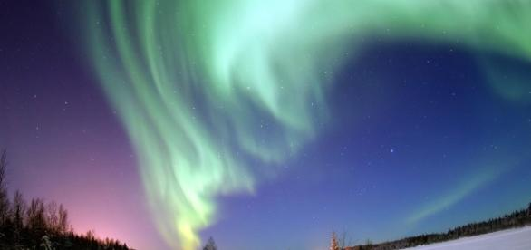 Espetáculo da aurora boreal no Alasca