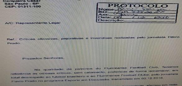 Flu aciona justiça, cobrando retratação de emissora Jovem Pan e radialista Flávio Prado (Foto: Explosão Tricolor)