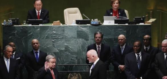 Noul secretar general al ONU, Antonio Guterres a depus jurământul