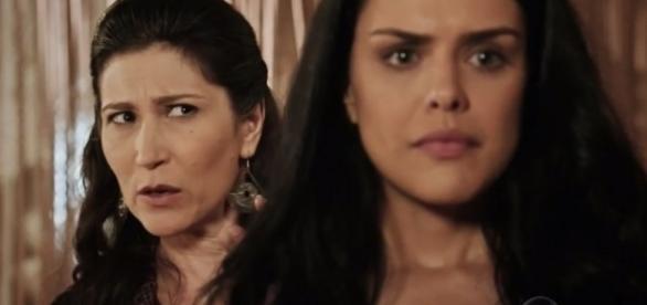 Léia e Samara em 'A Terra Prometida' (divulgação/Record)