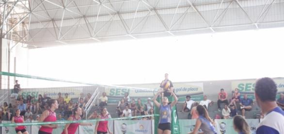 Olimpo e Jaó em jogo válido pela 4ª etapa da Liga Goiana de Vôlei 2016