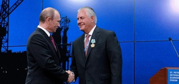 Rex Tillerson avait été décoré de l'Ordre de l'Amitié par Vladimir Poutine en personne