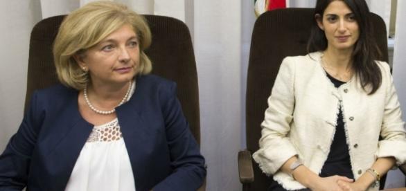 Roma, Paola Muraro e Virginia Raggi - (foto: lplnews24.com)