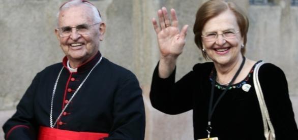 Dom Paulo Evaristo Arns e sua irmã, Zilda Arns (Foto: Reprodução)