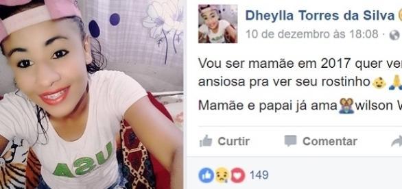 Jovem executada, após anunciar gravides em rede social.
