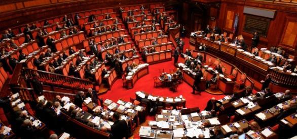 L'aula di Palazzo Madama, decisiva per la fiducia al governo di Paolo Gentiloni