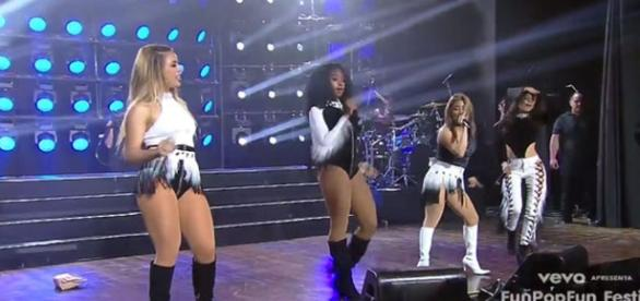 O Fifth Harmony fez show fechado em São Paulo (Foto: Reprodução)