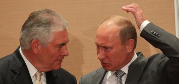 Tillerson and Putin. The two have been close for a long time, but that's drawing criticism.