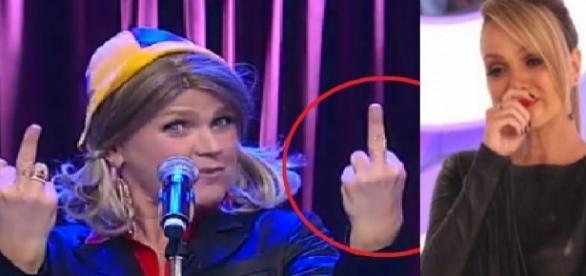 Xuxa e Eliana em gesto obsceno - Google