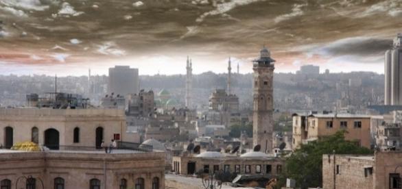 Cidade de Alleppo vista de cima, antes dos conflitos
