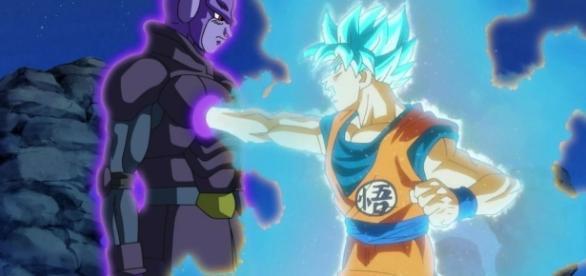 Goku luchando contra Hit en el capítulo 72 de Dragon Ball Super