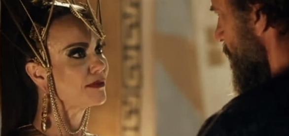 Ravena e Kamir em 'A Terra Prometida' (Divulgação/Record)