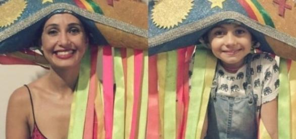 Camila Pitanga ao lado da filha Antônia