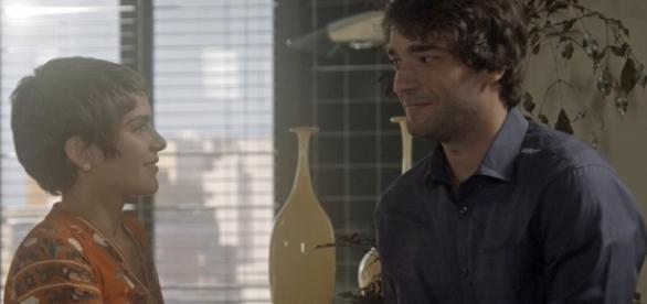 Letícia e Tiago em 'A Lei do Amor' (Divulgação/Globo)