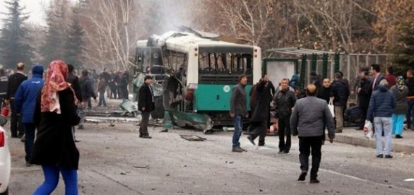 Local do atentado ocorrido na cidade turca de Kayseri em 17 de dezembro