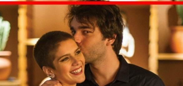 Na novela ´A Lei do Amor´, Tiago beijará Letícia e ela corresponderá