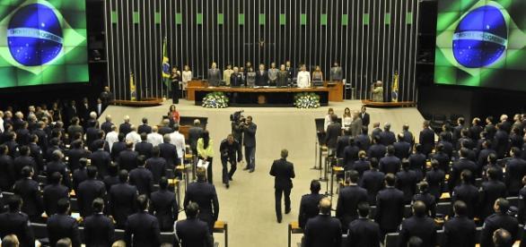 Sessão plenária do Congresso Nacional