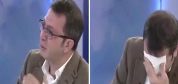 Turgay Güler se emocionou com o sofrimento de uma criança