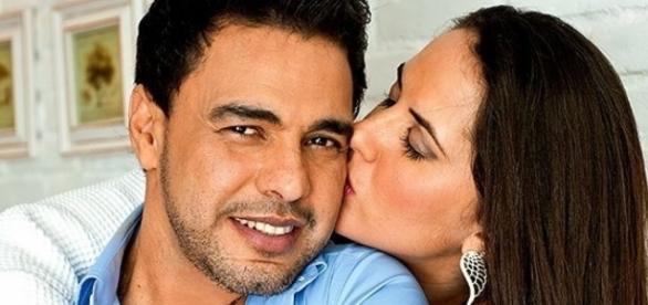 Zezé Di Camargo engatou romance com a jornalista, enquanto era casado com Zilu Godoi