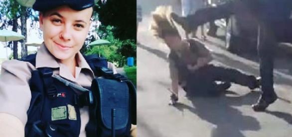 Guarda feminina comemora prisão de agressor - Google