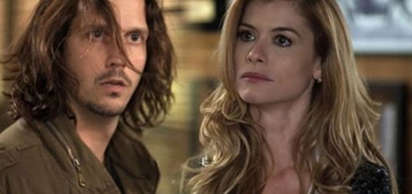 Imagem: Gui Santiago e Diana em 'Rock Story'
