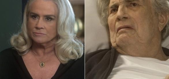 Imagem: Magnólia e Fausto Leitão em 'A Lei do Amor'