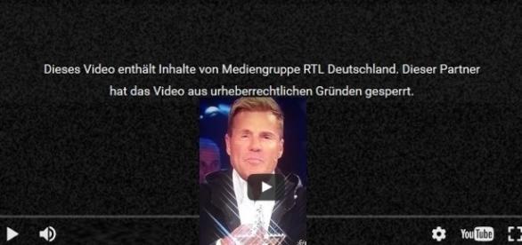RTL lässt die Aussagen auf YouTube sperren!