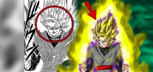 La nueva transformación de Goku Black vista en el manga.