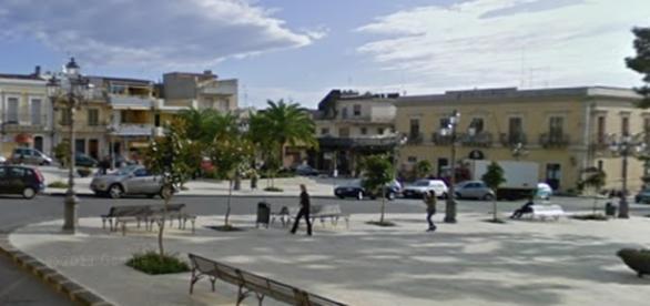 La piazza centrale di Solarino