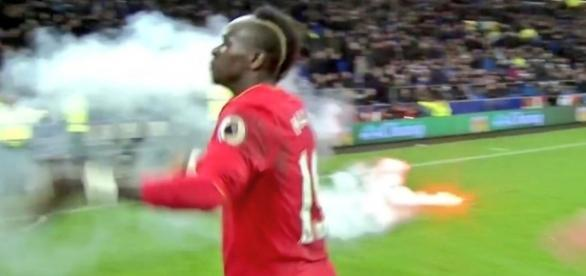 Sadio Mane is literally on fire after Everton 0 - Liverpool 1 ... - 101greatgoals.com
