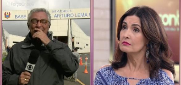 Ari Peixoto se emocionou ao falar, ao vivo, com Fátima Bernardes