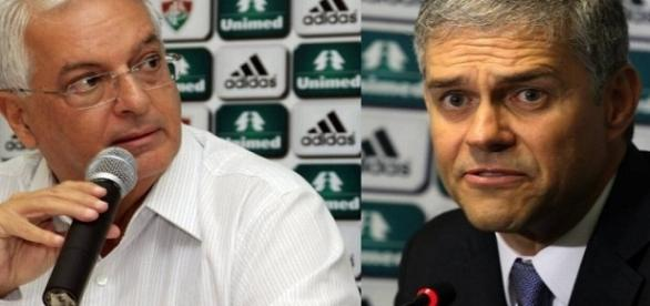 Celso Barros e Peter Siemsen foram decisivos para vinda de Abel ao Fluminense (Foto: O Globo)