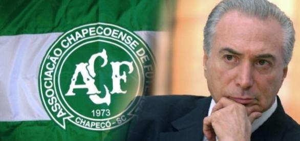 Michel Temer vai ao aeroporto de Chapecó prestar homenagem às vítimas do acidente aéreo