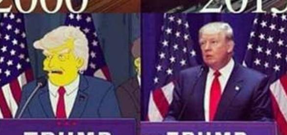 Imagem da suposta previsão dos Simpsons