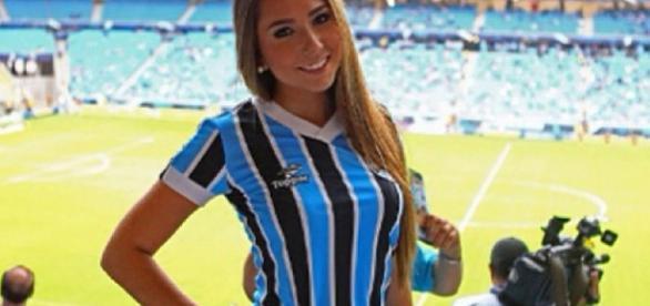 Carol Portaluppi, filha de Renato Gaúcho rende uma multa de 60,8 mil ao Grêmio