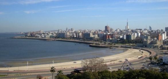 Vista de Montevidéu, capital do Uruguai