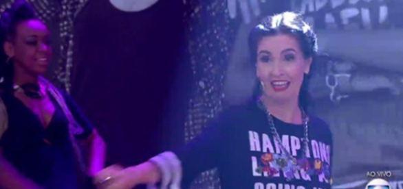 Fátima dança funk e internautas elogiam sua performance (foto: reprodução / TV Globo)