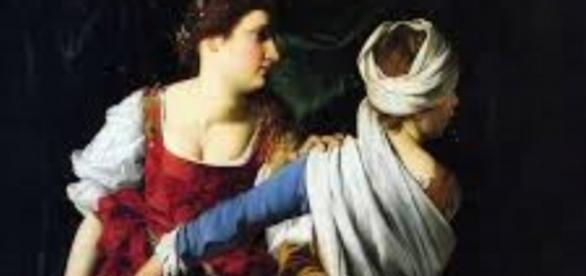 "Gentileschi's ""Judith and Her Maidservant"" FAIR USE artsunlight.com Creative Commons"