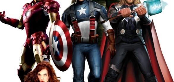 Imagen de los personajes de los Vengadores