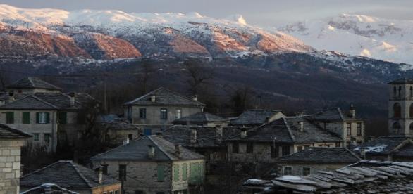 Inverno extremo em Zagori na Grécia