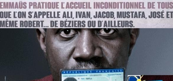L'association fondée par l'abbé Pierre a réagi aux propos du maire de Béziers, Robert Ménard, via une campagne d'affichage