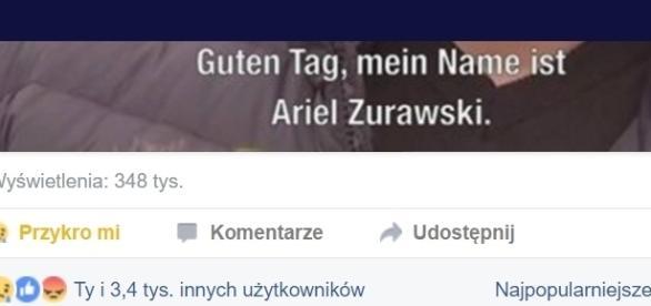 Reakcja niemieckich internautów na wypowiedź o bohaterskiej śmierci polskiego kierowcy ciężarówki, fanpage ZDF na FB.